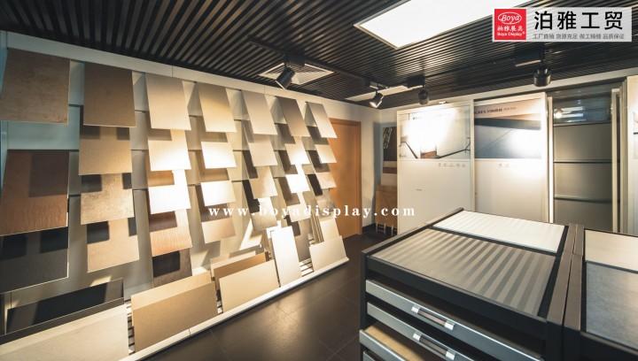 柏雅粘贴板案例展架瓷砖瓷砖苹果陶瓷组合柜cad软件下载展架版图片